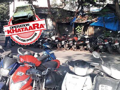 Operation Khataara: Seized bikes outside police station removed