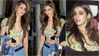 Disha Patani looks stunning as she flaunts her perfectly toned midriff at a dinner outing