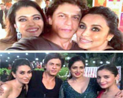 'Dwarf' SRK serenades his lovely ladies again