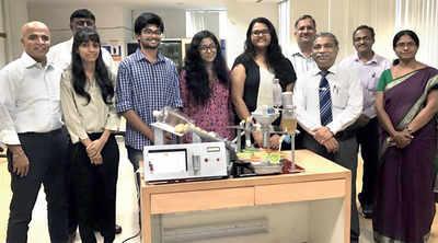 Karnataka: MIT students design a panipuri dispensing machine