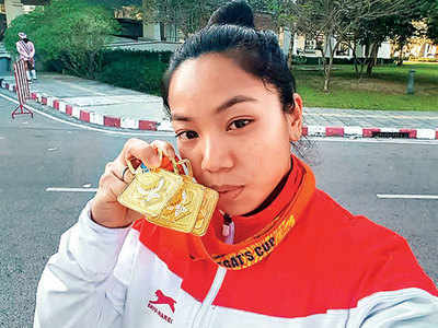 Mirabai Chanu wins gold on her return from injury