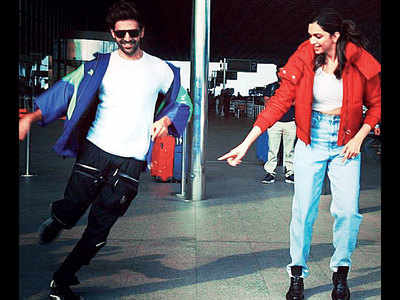Kartik Aaryan and Deepika Padukone's dance off