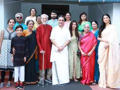 Photos: Kamal Haasan celebrates 65th birthday with family in Tamil Nadu