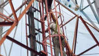 Unemployed teacher atop tower ends 135-day protest