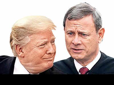 Trump, chief justice spar over bias claim
