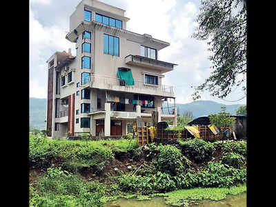'Activist' builds bridge on river Indrayani, changes its course with encroachment
