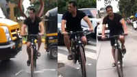 Salman Khan trolled for 'zig-zag' cycling video, fan tags Mumbai Police
