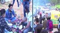Tourists flout COVID SOPs at Nandi Hills in Karnataka