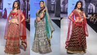 Rashami Desai walks the ramp for designer Anu Mehra at the Bombay Times Fashion Week – October 2021