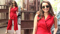 Shraddha Kapoor dons the boss lady avatar in red pantsuit