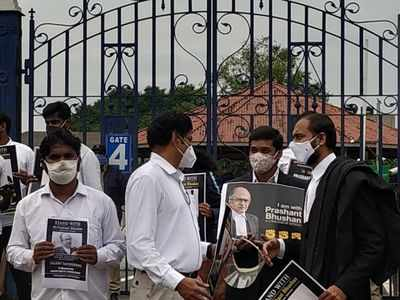 Hyderabad lawyers stage silent protest in Prashant Bhushan support