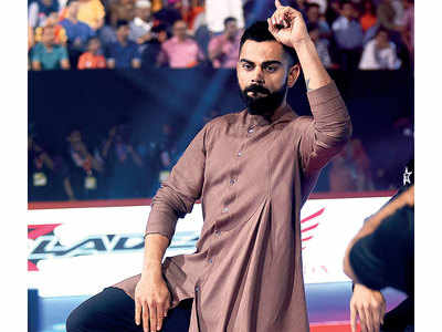 Virat Kohli attends Pro Kabaddi League 2019 in Mumbai