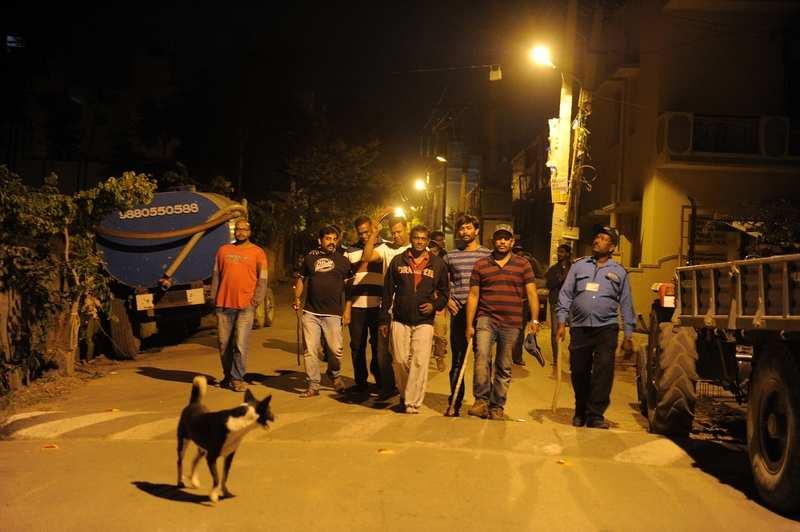Residents of Bengaluru's KR Puram keep vigil on the streets