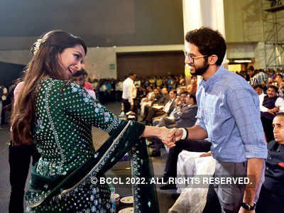 Shraddha Kapoor meets Aaditya Kapoor at Umang 2020