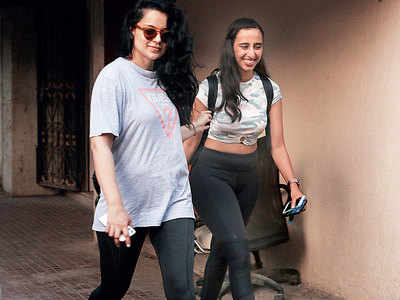 Kangana Ranaut and Namrata Purohit spotted outside a gym in Juhu