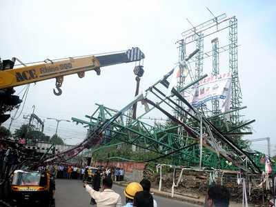 Juna Bazar hoarding collapse: Pune Police arrest owner of advertising company which put up the hoarding