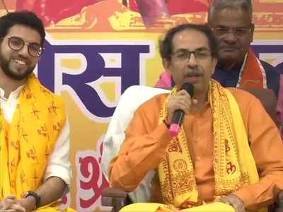 'Parted ways with BJP, not with Hindutva': CM Uddhav Thackeray announces Rs 1 crore for Ram temple during Ayodhya visit