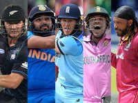 Top five batsmen with most sixes in an ODI innings