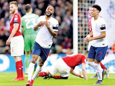 Raheem Sterling leads England to a 5-0 victory with his hat-trick