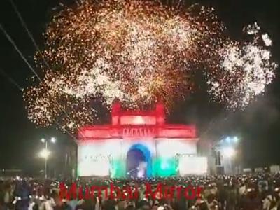 Mumbai rings in New Year with peaceful celebrations; thousands gather at Gateway, Marine Drive, Girgaum Chowpatty