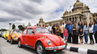 VW Beetle's tour Bengaluru streets on Worldwide Beetle Day