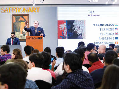 MF Husain's painting sets a world record, sold for Rs 13.44 crore at live auction of Nirav Modi's collectibles