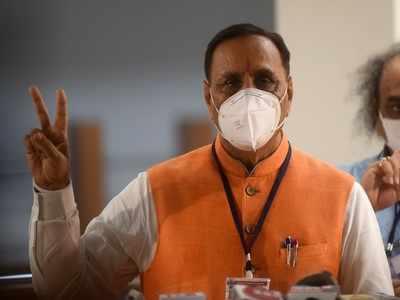 Gujarat CM Vijay Rupani, Dy CM Nitin Patel in Rajkot for Covid-19 review, cabinet meet put off