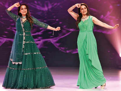 Madhuri Dixit and Juhi Chawla's green gang
