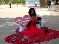 Valentine angel descends in Goa with message of compassion and love