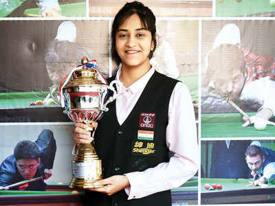 Keerthana wins jr snooker title in city