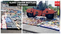 Ahmedabad: Liquor worth Rs 73 lakh crushed by road-roller
