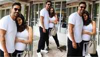 Arjun Rampal strikes a pose with girlfriend Gabrielle Demetriades as she flaunts her baby bump