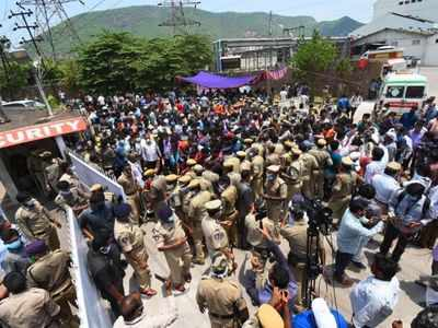 Vizag gas tragedy: People protest with dead bodies outside LG Polymers, cops escort DGP from site