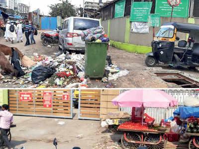 Garbage, hawkers hindering access to Jogeshwari school