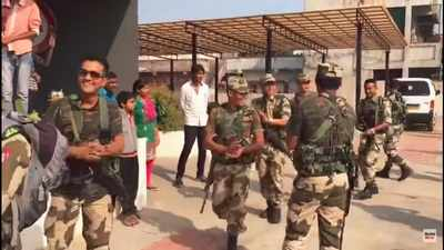 Gujarat Election 2017: Garba party held for jawans on polling duty in Ahmedabad's Jashodanagar