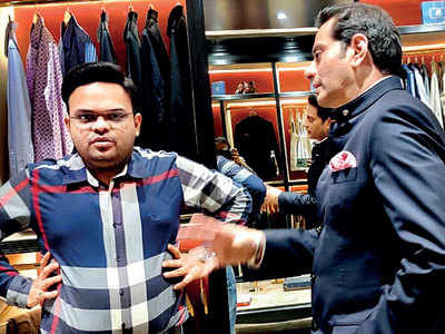 Home Minister Amit Shah's son Jay Shah attends designer Raghavendra Rathore's store launch in Ahmedabad