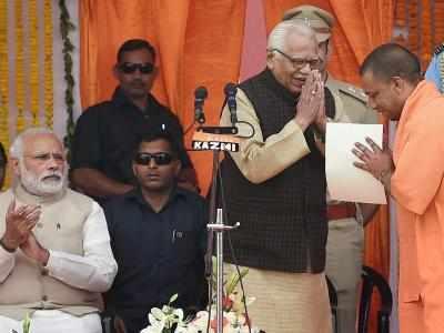 Yogi Adityanath sworn in as Uttar Pradesh Chief Minister; heads 47-member team