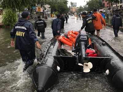 Photos: As heavy rains lash Mumbai, Indian Navy shifts 1000 people to safety in Kurla