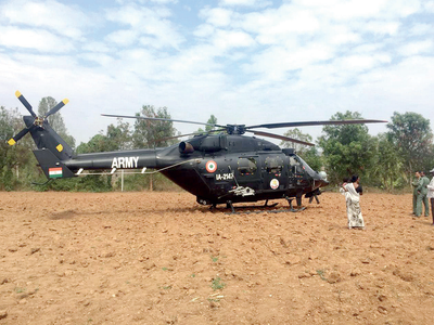 Army chopper makes precautionary landing