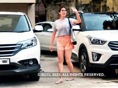 Sara Ali Khan spotted outside a gym