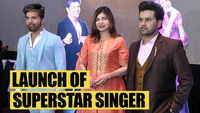 Alka Yagnik, Himesh Reshammiya, Javed Ali at the launch of Superstar Singer