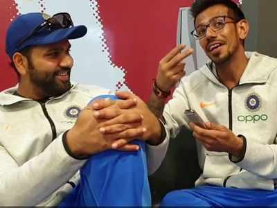 So who should get credit for Rohit Sharma's century? Yuzvendra Chahal has a suggestion