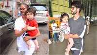 Taimur Ali Khan's nanny spotted with Shahid Kapoor, Mira Rajput and kids?