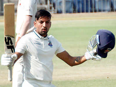 Swapnil Gugale's ton helps Maharashtra get good start in Group A match