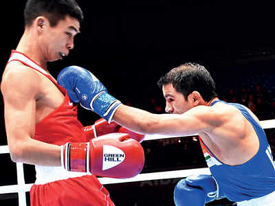 World Boxing Championships: Amit Panghal beats Bibossinov, becomes first Indian to enter final