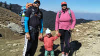 2-year-old climbs Churdhar mountain with his police officer mom