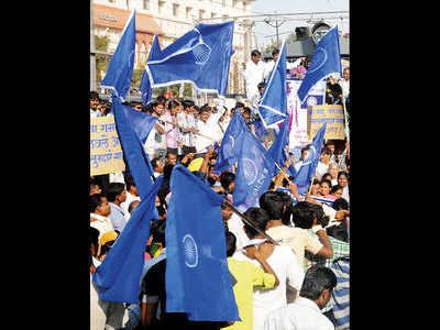 Republican party factions clash over Ashok Chakra logo on flag