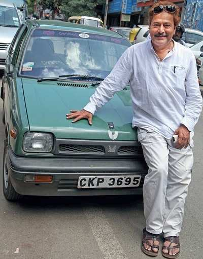 The first Sandalwood celebrity, Ramakrishna, to buy a Maruti 800 when it was launched in 1983 is still driving just that car