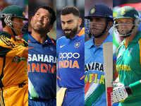 Top five fastest batsmen to 10,000 ODI runs