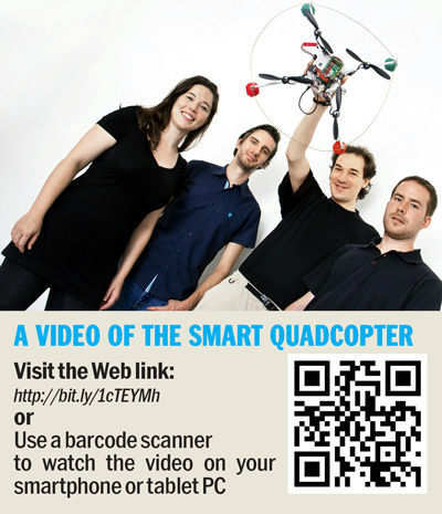 Quadcopter with a smartphone brain
